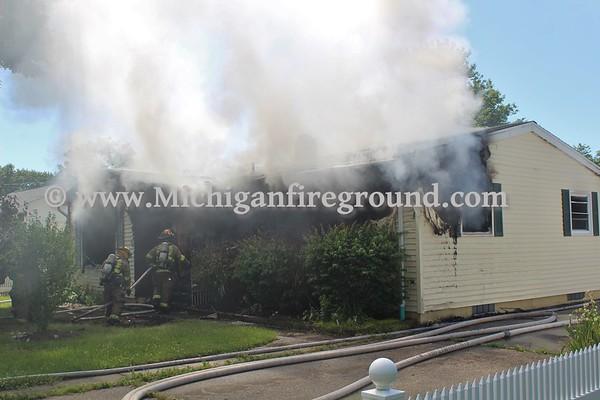 6/17/20 - Eaton Rapids house fire, 412 Dutton