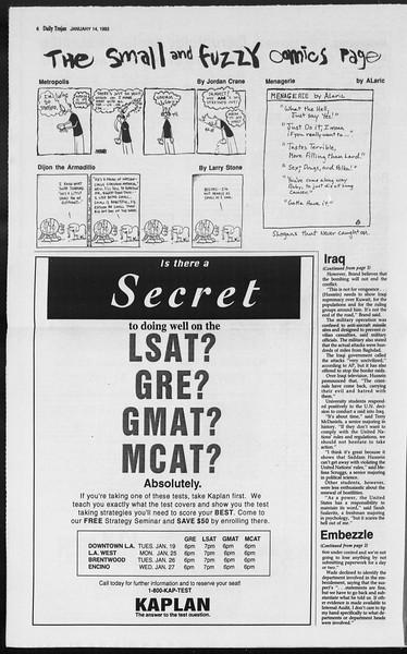 Daily Trojan, Vol. 119, No. 3, January 14, 1993