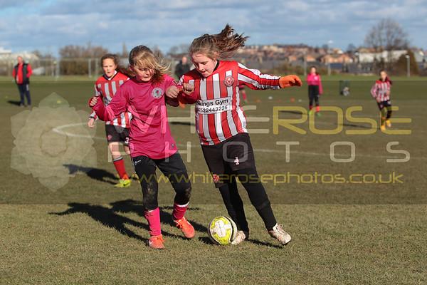 Under 11's Girls v Sheffield United girls 21 - 02 - 15