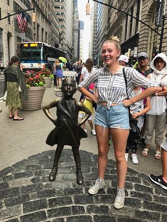 Kate & Defiant Girl Wall Street