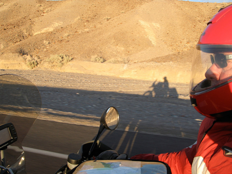 Neil Peart on his BMW R1200GS