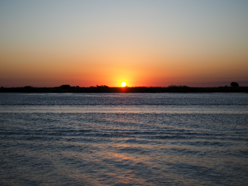 Sunset over the Chobe River in Botswana
