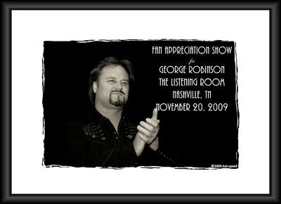 20091120 George Robinson Fan Appreciation Show