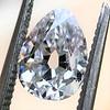 1.50ct Antique Pear Cut Diamond, GIA D VS1 0