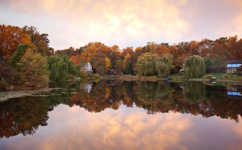 Lake Newport fall sunrise
