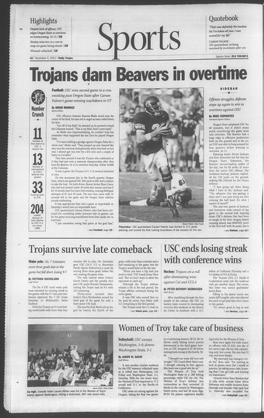 Daily Trojan, Vol. 144, No. 48, November 05, 2001