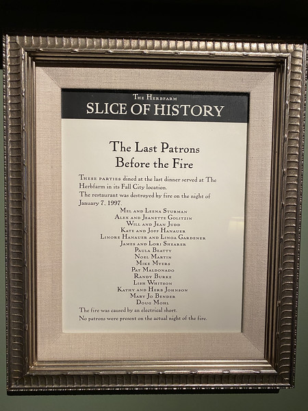 The Herbfarm's Slice of History