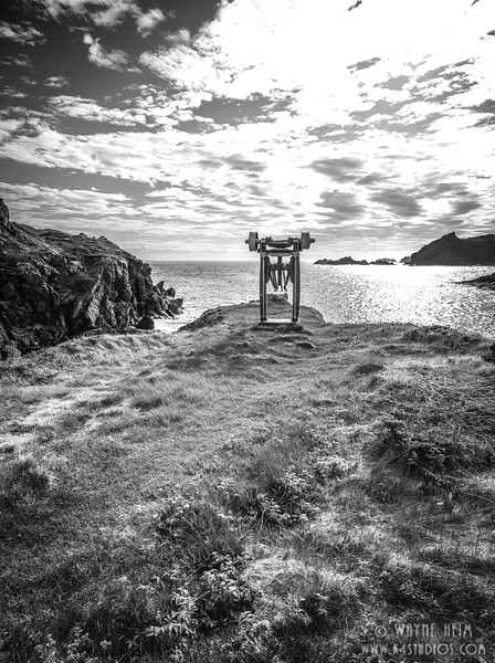 Mining in Sleepy Cove   Black and White Photography by Wayne Heim