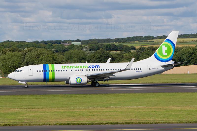 PH-HZI. Boeing 737-8K2. Transavia. Prestwick. 230707.
