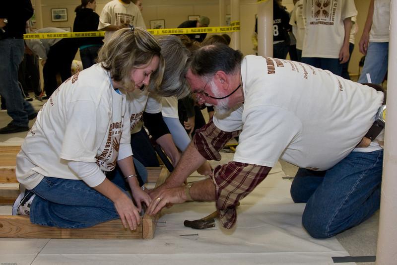 "1) Slug #: W 00017811; (2) Ridgewood, NJ; (3) 10/25/08; (4) Ridgewood ""Make A Difference Day"" Habitat for Humanity build; (5) ; (6) W.H. GRAE for the Ridgewood News."