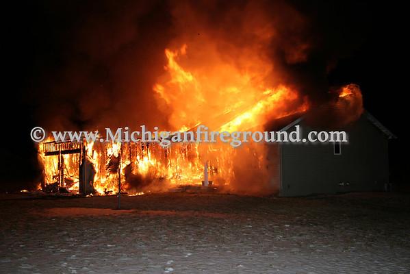 1/30/10 - Eaton Rapids Twp house fire, 5280 Plains Rd