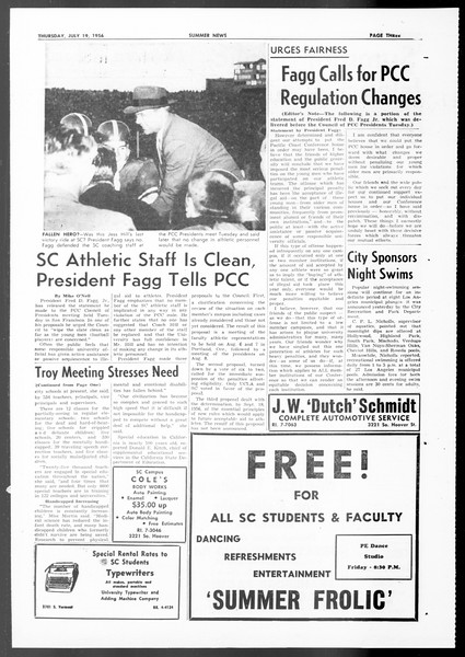 Summer News, Vol. 11, No. 8, July 19, 1956