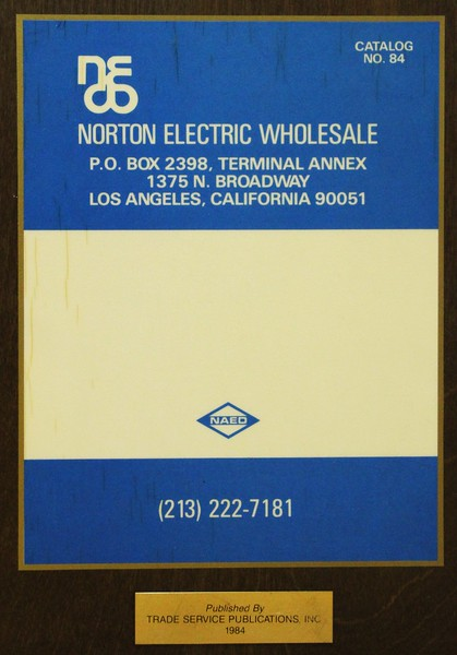 1984, Norton Electric Catalog