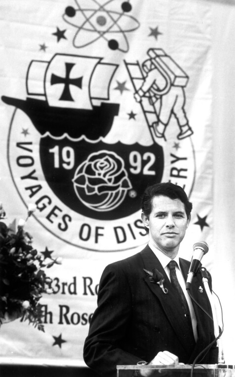 . 1992 Rose Parade co-grand marshal, Cristobal Colon.   L.A. Daily News file photo