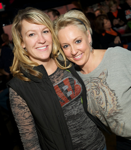 Jen Schulkers and Amy Lambdin at Jerzees for the Bengals game Saturday