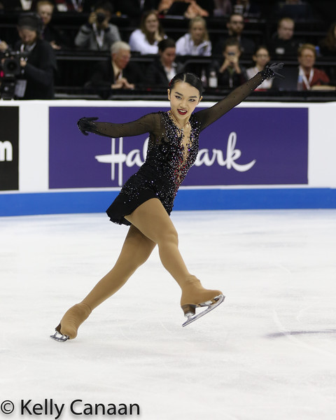 Karen Chen performs her free skate in Kansas CIty.