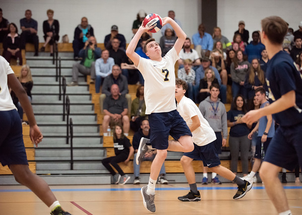 06/04/18 Wesley Bunnell | Staff Newington volleyball defeated South Windsor 3-0 in a game played at Glastonbury High School on Monday evening. Daniel Cloutier (7).
