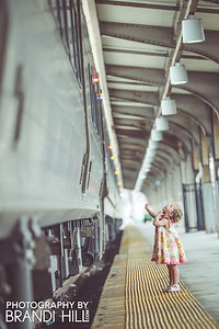 Hoboken Train Station.....with Evelyn