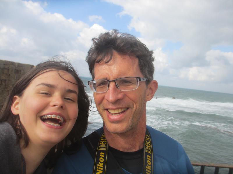 selfie on the seawall