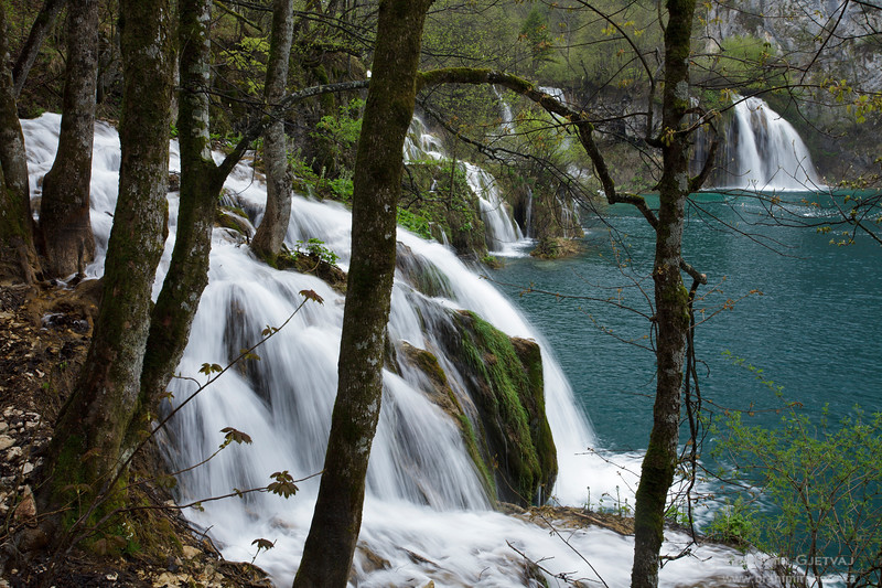 Milanovački Slap waterfall. Plitvice Lakes National Park, Croatia