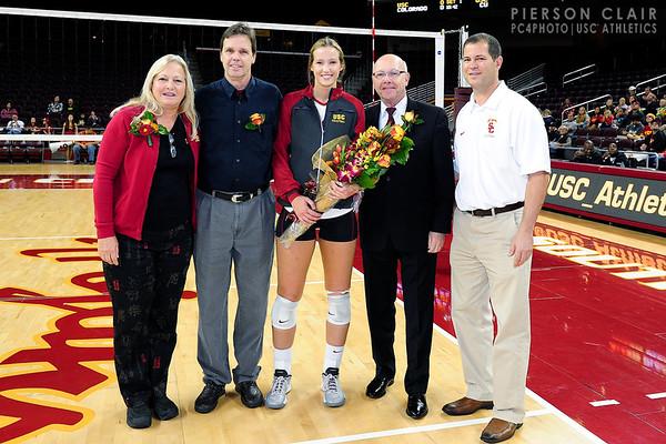 USC Women's Volleyball v Colorado 2013 (Sr. Day)