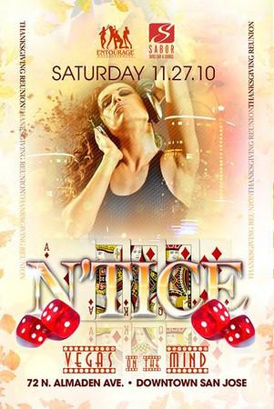 Entourage Entertainment & Sabor presents N'TICE @ SABOR Tapas Bar & Lounge 11.27.10