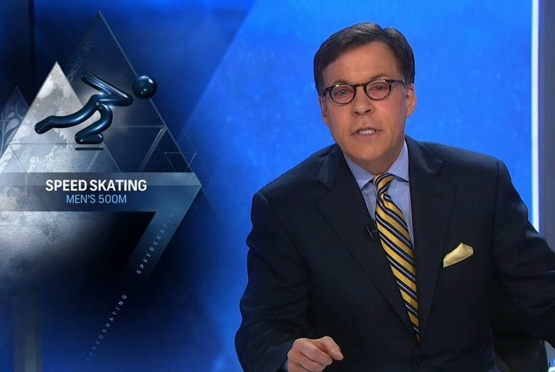 ". <p>10. (tie) BOB COSTAS <p>Got sunglasses? (3) <p><b><a href=\'http://www.deadline.com/2014/02/bob-costas-out-a-third-day-at-sochi-matt-lauer-back-in-primetime-tonight/\' target=""_blank\""> HUH?</a></b> <p>   (Photo from YouTube)"