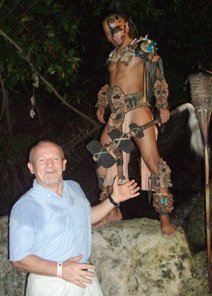 Xcaret - 23 For the Maya, dance was a very public affair. It induced visionary trances where either individuals or groups went into an altered state of mind that allowed them to communicate with the other world