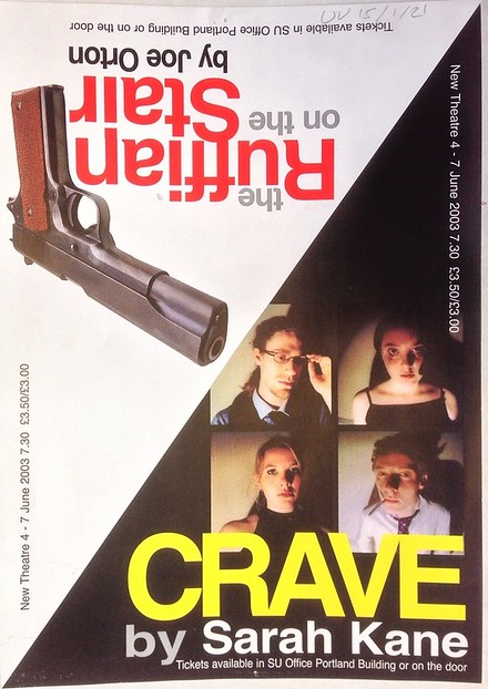 'Crave' and 'The Ruffian On The Stair' poster