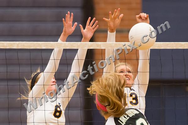 2012 10 18 Clarkston Varsity Volleyball vs Lake Orion
