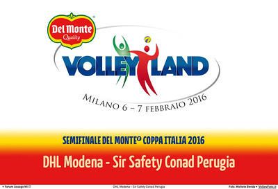 DHL Modena - Sir Safety Conad Perugia   Semifinale #DelMonteCoppaItalia