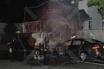 Baldwin F.D. MVA w/ Car Fire 621 Merrick Rd.
