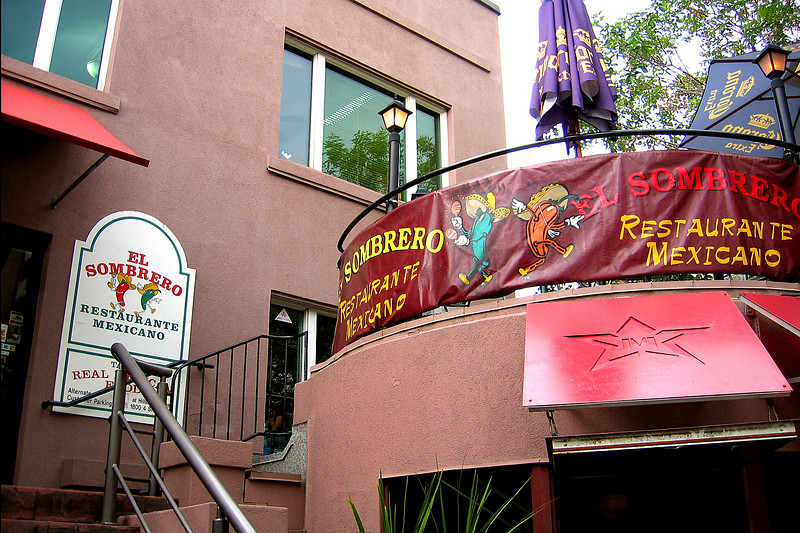 After work on Darcie's birthday, we went to the little El Sombrero restaurant on 17th Ave