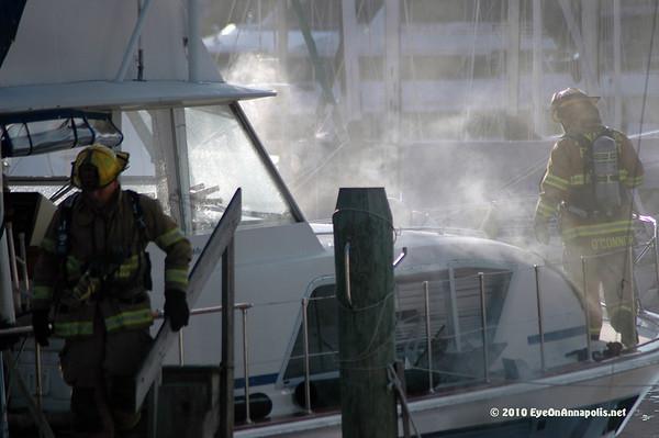 Boat Fire, December 2, 2010