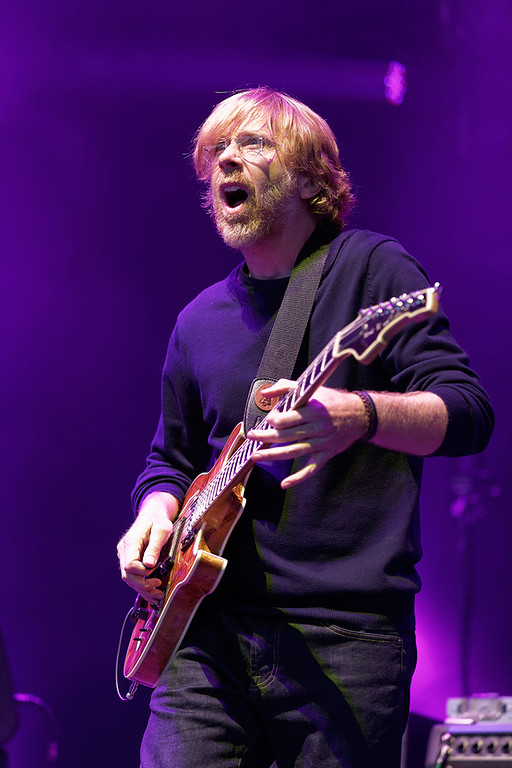 . Trey Anastasio of Phish at DTE on 7-16-14. Photo by Ken Settle