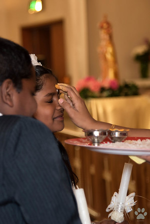 Holy Communion for Merlin and Riancy