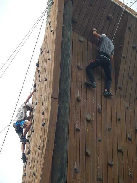 ELL Campers on the Climbing Tower