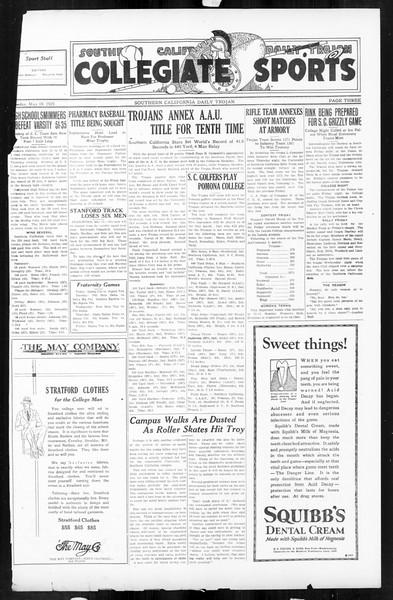 Daily Trojan, Vol. 16, No. 107, May 18, 1925