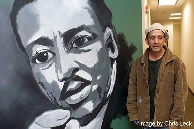 Nelson Santana Mural at AFSCME