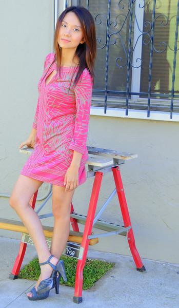 beautiful woman model red dress 103.090...43