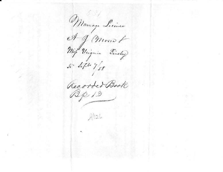1858 ML - A.J. Moore and Virginia Tinsley ML531 Sep 7, 1858 a.jpg