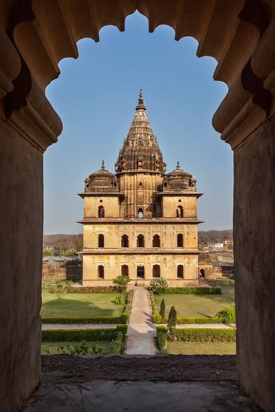 Royal cenotaphs of Orchha. Orchha, Madhya Pradesh, India