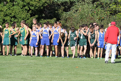 XC Highland Conference Boys Start Line
