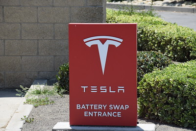 Tesla Battery Swap Station Harris Ranch