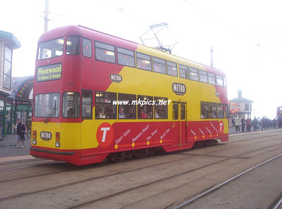 Blackpool Tram Procession, 11th September 2004 from