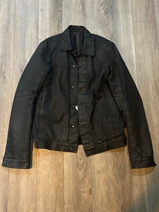 210210-B4Black Waxed Padded Worker Jacket