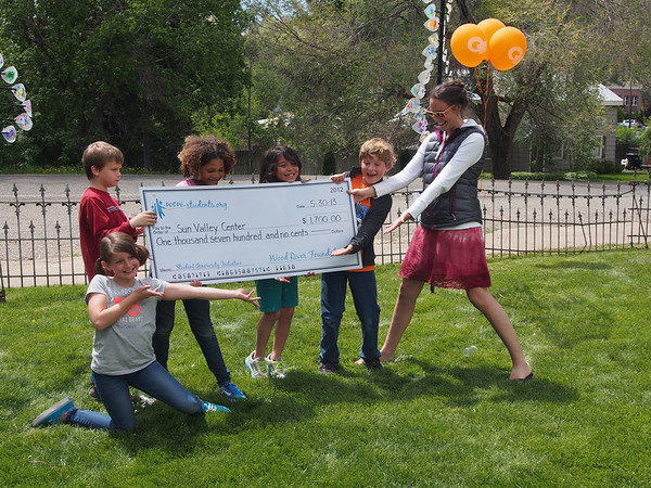 Public Art Opening and check presentation