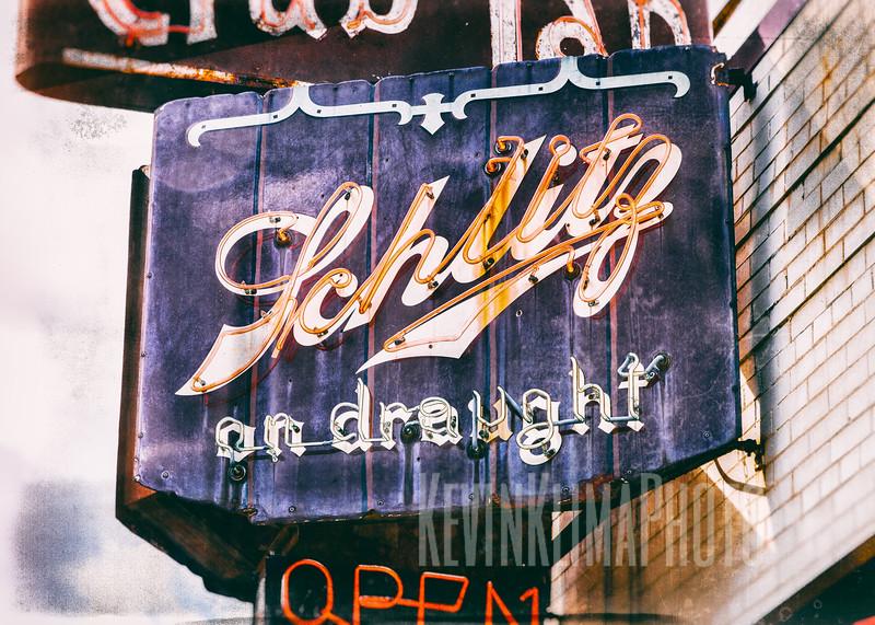 Schlitz on draught