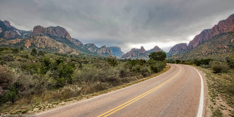 View from the Chisos Basin Road