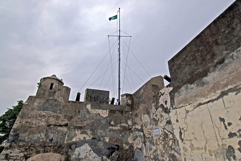 Flag at Fortress in Macau